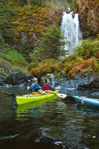 Kayaking to the Humpy Cove Waterfall
